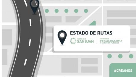 Estado de rutas provinciales 28/02/18 8:00 hs