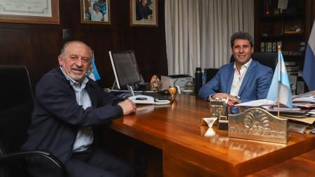 Uñac recibió al titular de la CTA, Hugo Yasky
