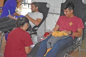 Un equipo de rugby se sumó a la campaña de donación de sangre