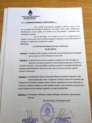 Calingasta, primer municipio en aprobar por ordenanza su plan estratégico