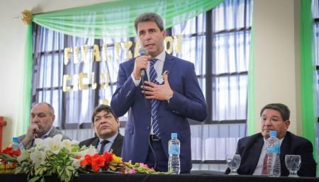 Sergio Uñac cerró el ciclo lectivo en la Escuela Agrotécnica de Zonda