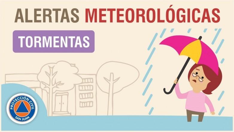 Alerta meteorológica N° 54/19 - Probabilidad de tormentas