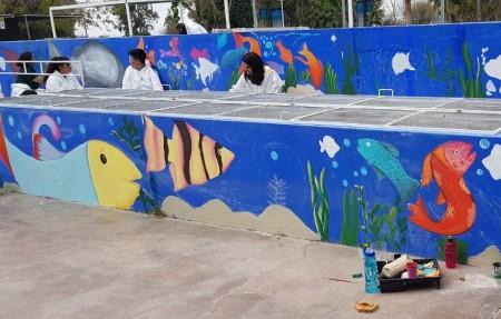El Parque de la Biodiversidad fue intervenido artísticamente por alumnos del Polivalente