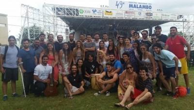 Delegación de artistas sanjuaninos en el Festival de Malambo