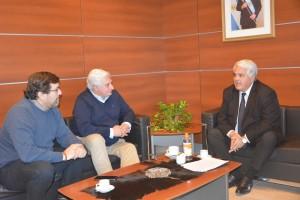 El ministro Díaz Cano se reunió con autoridades del Instituto Nacional de Vitivinicultura