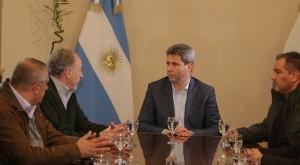 El secretario general de la CTA visitó al gobernador Sergio Uñac