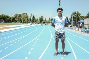 Ramiro Cataldo, en la nueva pista de atletismo de San Juan.