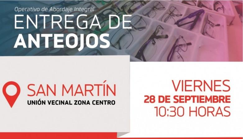 San Martín: más de 750 personas recibirán sus anteojos tramitados en el Operativo de Abordaje