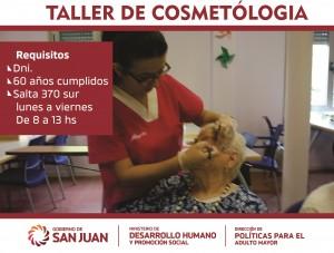 Cosmetología se suma a los talleres de la Dirección de Adultos Mayores