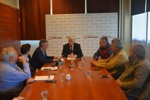 El ministro Díaz Cano recibió a autoridades de la Cámara Argentina de Vino a Granel