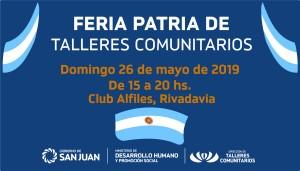 Talleres comunitarios celebran el 25 de Mayo con una nueva feria