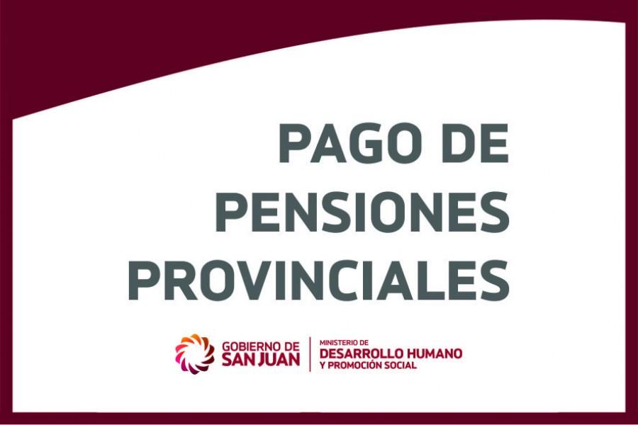 Pago de pensiones provinciales para beneficiarios de Capital, Rivadavia y Santa Lucía