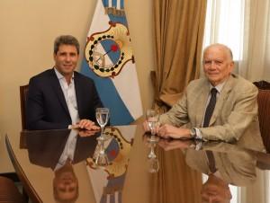 Sergio Uñac recibió a Humberto Medina Palá, ministro de la Corte de Justicia