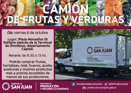 """El camión de """"Frutas y Verduras"""" visita Capital"""