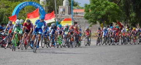 Postal de la carrera disputada en Albardón.