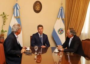 El presidente de la UIA fue recibido por el gobernador Uñac