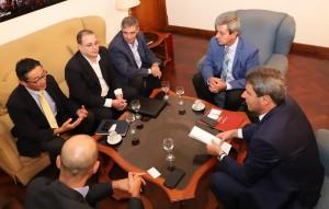 Directivo de NEC Argentina visitó al gobernador