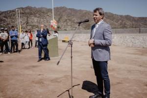 Una batería de obras inauguró Uñac en Valle Fértil