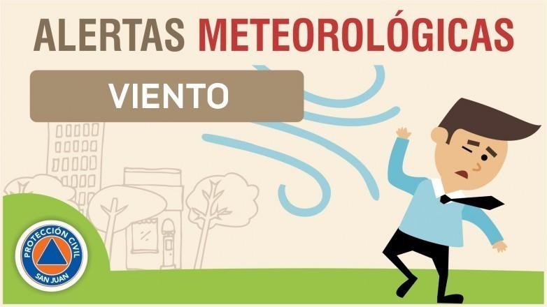 Alerta Meteorológica N° 50/19 - Viento sur