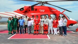 Salud Pública, Protección Civil y la Dirección de Aeronáutica pusieron todo su profesionalismo en el Villicum. Fotos: Facundo Quiroga