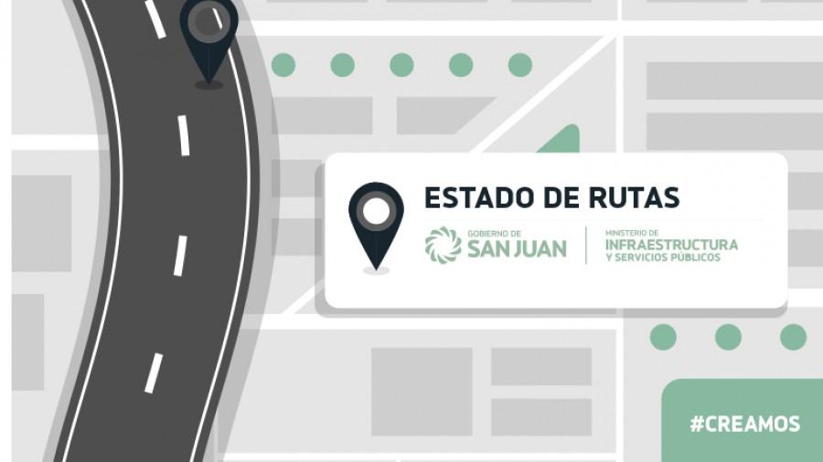 Estado de rutas provinciales 19/02/18 8:00 hs