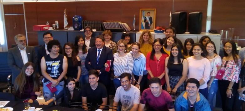 Estudiantes y educadores chilenos destacaron la calidad educativa de San Juan
