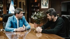 Política, modelo San Juan e impulso al deporte, ejes del encuentro entre Uñac y Tinelli en Casa de Gobierno