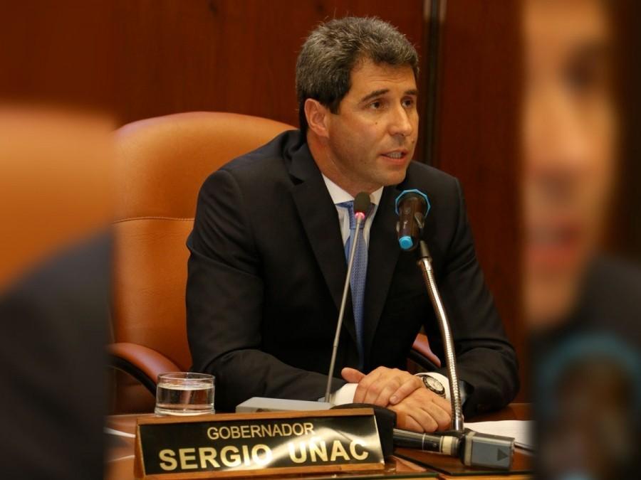 El primer mensaje del gobernador Sergio Uñac