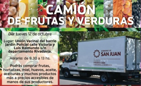 Camión de Frutas y Verduras por 2