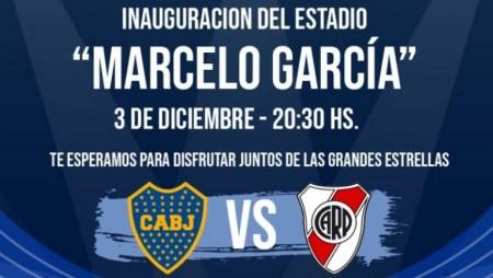 Estrellas de River y Boca se miden en el estreno del estadio Marcelo García: seguilo en vivo