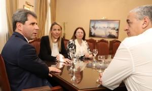 Uñac recibió al diputado nacional Horacio Pietragalla