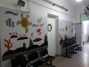 Consultorios externos pediátricos del Hospital Rawson cuentan con salas de espera amigables para los niños