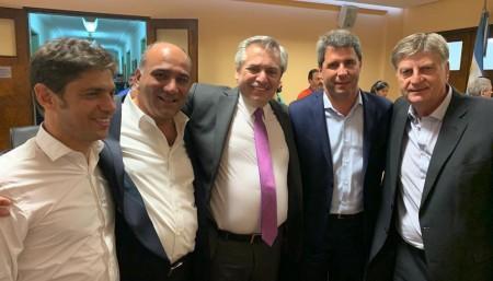 """Uñac, tras participar en la visita de Alberto Fernández a la CGT: """"Al país lo sacamos adelante entre todos"""""""
