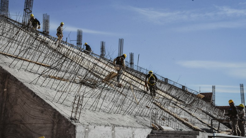 El nuevo Estadio Deportivo de UPCN ya deja ver sus tribunas