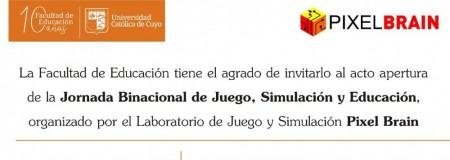 """Invitan a participar de la Jornada Binacional de Juego """"Pixel Brain"""""""