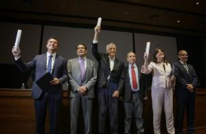 Los diputados nacionales electos Gioja, Caselles y Orrego recibieron sus diplomas