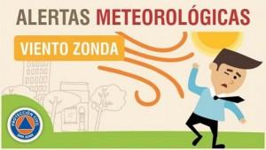 Alerta meteorológica N° 43/19 - Viento Zonda