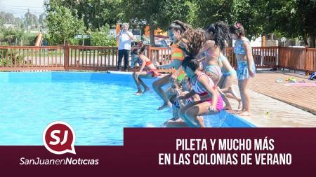 Pileta y mucho más en las Colonias de Verano | #SanJuanEnNoticias