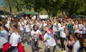 Más de 800 alumnos participaron de un encuentro saludable, deportivo, solidario e inclusivo