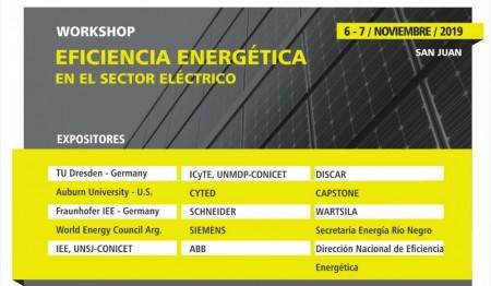 """Se realizará en San Juan el workshop """"Eficiencia Energética Avances y Desarrollos Tecnológicos en el Sector Eléctrico"""""""