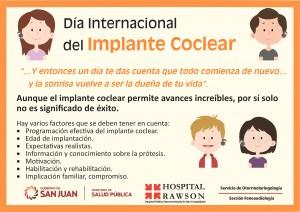 Actividades por el Día Mundial del Implante Coclear en el Hospital Rawson