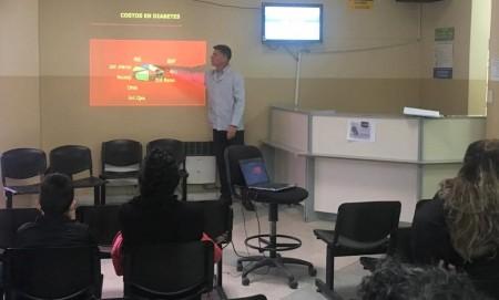 Para informar sobre diabetes dieron charlas en el Centro de Salud Dr. Alfonso Barassi