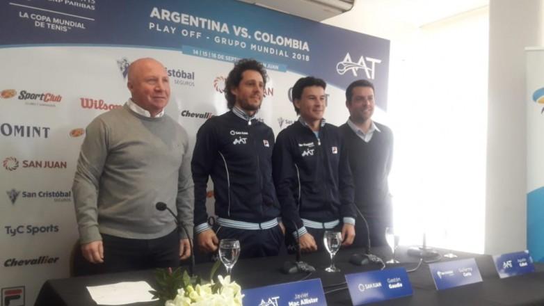 Argentina confirmó el equipo que jugará la Copa Davis en San Juan