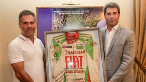 El gobernador Sergio Uñac recibió la visita de Fabián Flaqué