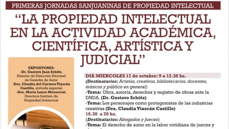Invitan a Jornadas sobre Propiedad Intelectual