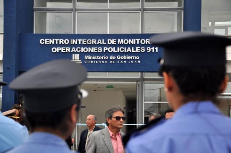 Gioja inauguró el Centro  de Monitoreo Policial